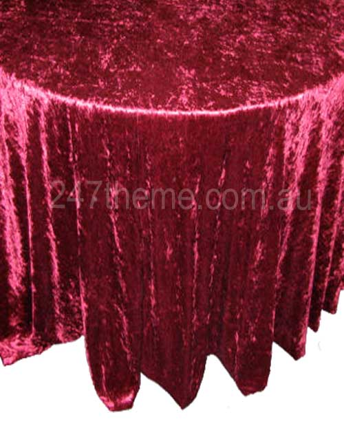 Table cloth burgundy penne theme